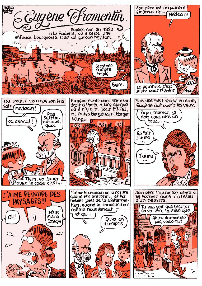 Planche BD – Eugène Fromentin par Nena & Witko