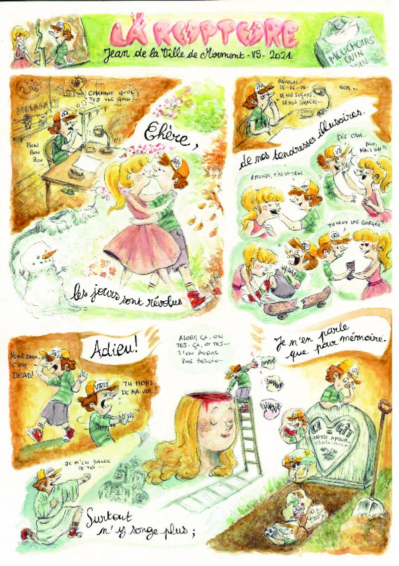 Planche BD – Jean de La Ville de Mirmont par Jessica Hautdidier