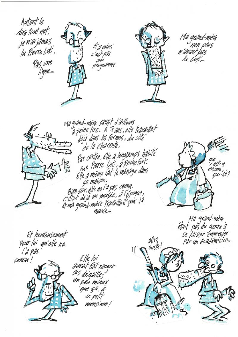 Planche BD – Pierre Loti par Yann Fastier