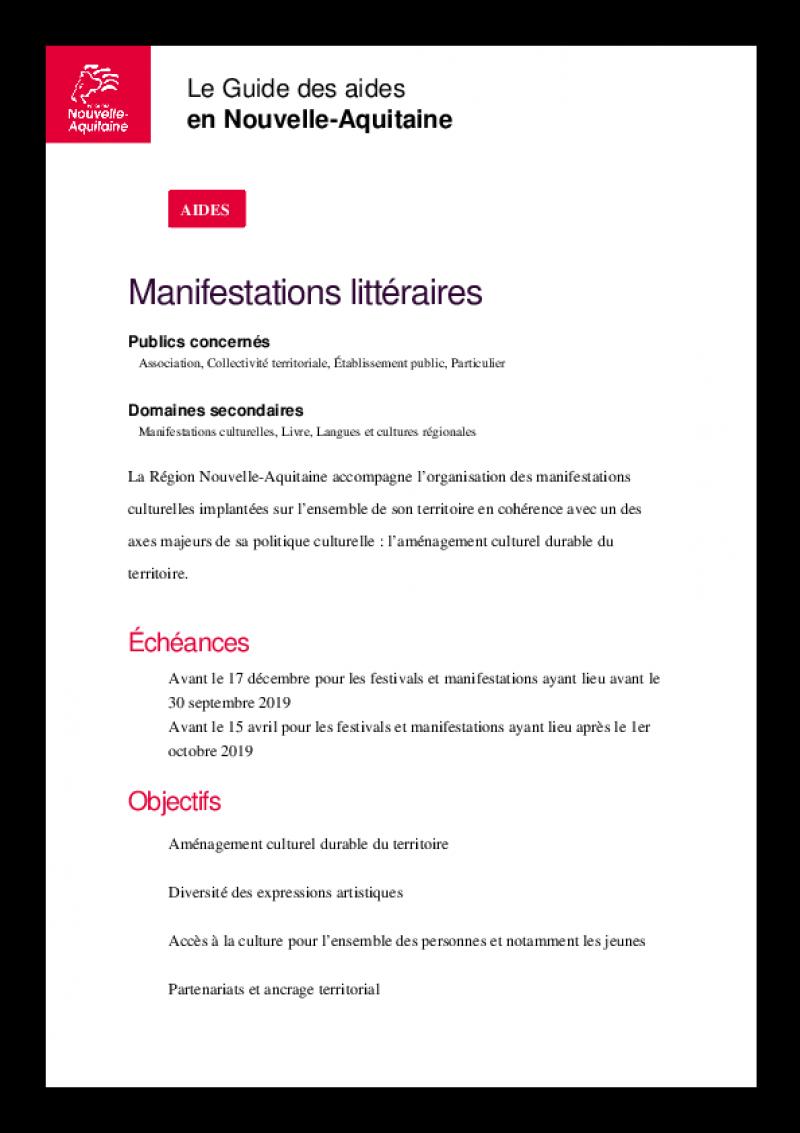 Règlement d'intervention de la Région Nouvelle-Aquitaine